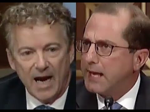 """THAT'S B.S. AND THE AMERICAN PEOPLE KNOW IT!!!"" Rand Paul DESTROYS Trump Nominee Alex Azar"