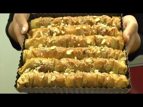 baklawa rolls - recetteshanane - youtube