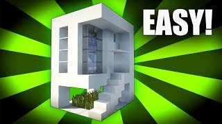 Minecraft: How To Build A Small Modern House Tutorial ( 2017 ) 5x5