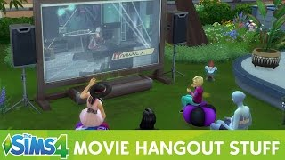 The Sims 4 Movie Hangout Stuff Pack: Overview Movies, Objects, Outfits, & Hair
