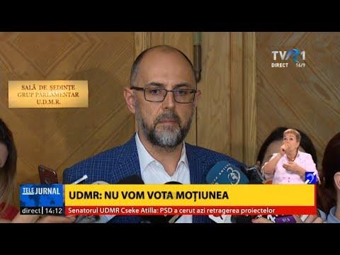 UDMR nu va participa la moţiunea împotriva Guvernului Grindeanu - declaraţii Kelemen Hunor