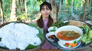 Yummy cooking cake noodle Khmer recipe - Cooking skill