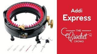 How to Knit using Addi Express Round Knitting