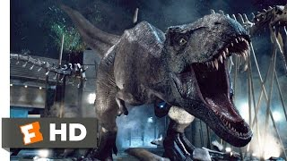 Jurassic World (2015) T-Rex vs. Indominus Scene (9/10) | Movieclips