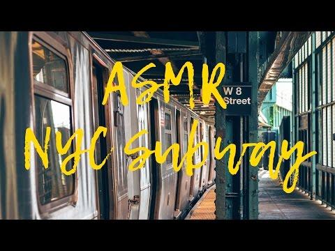 ASMR: Noisy NYC subway sound. 3d sounds.