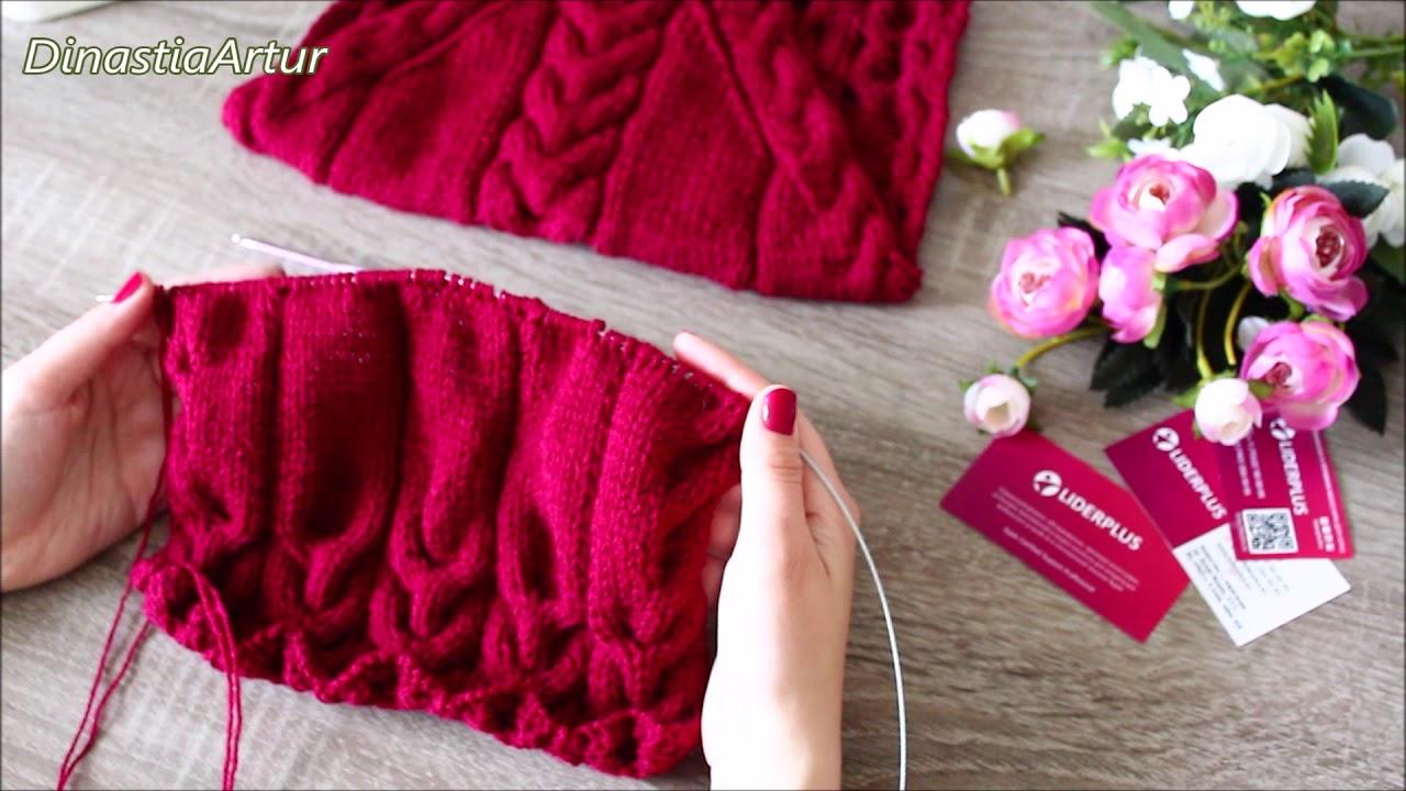 2мк свитер с косами на ребенка 1 3 года спицами вязание для детей