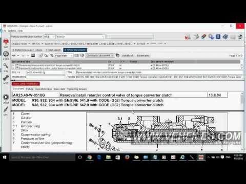 How to use Mercedes Benz WIS ASRA 2016