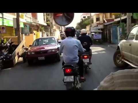 Werner Kreis on the road in Phnom Penh