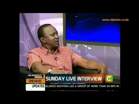 Sunday Live Interview: Uhuru Kenyatta on Hague