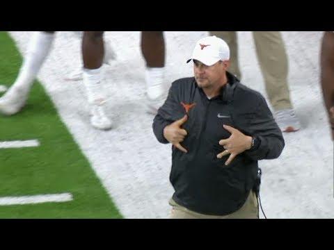 Texas coach caught mocking Missouri QB's touchdown celebration | ESPN