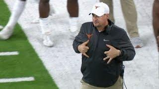 Texas coach, players caught mocking Missouri QB Drew Lock's touchdown celebration | College Football
