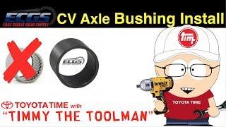 ECGS Clamshell CV Axle Bushing Install