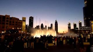Burj Khalifa fountain water show