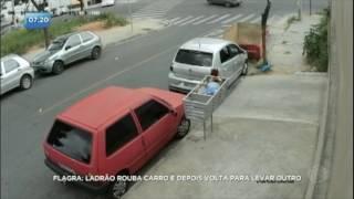 Ladrão rouba carro e volta para levar outro em Minas Gerais