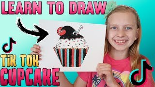 Draw a TikTok Cupcake || Art with Alyssa