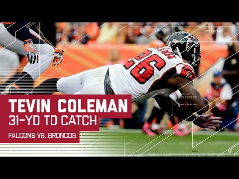 Paxton Lynch Gets Picked Off & Tevin Coleman Catches a Huge TD! | Falcons vs. Broncos | NFL