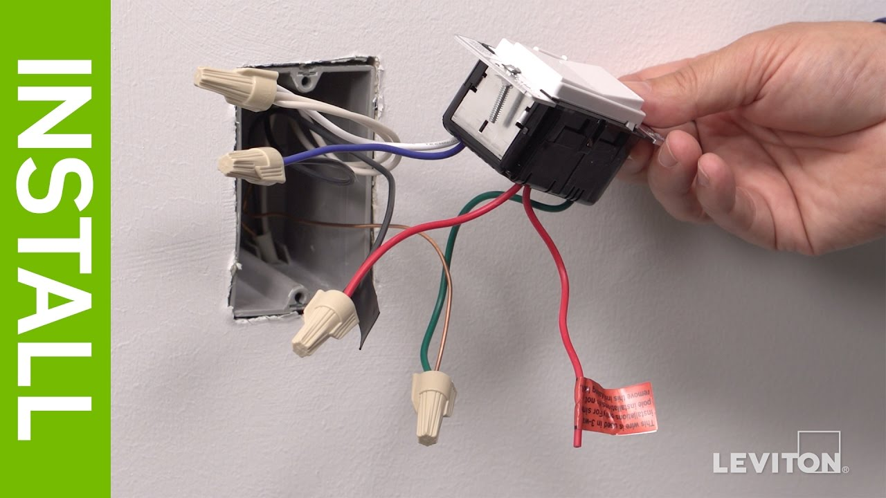 leviton slide dimmer wiring diagram hid card reader presents how to install a decora digital dse06 low voltage