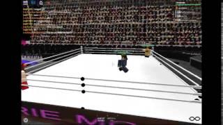 Roblox Nikki Bella VS Brie Bella WWE Divas Wrestlemania 1