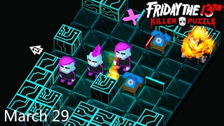 Friday the 13th: Killer Puzzle - Daily Death March 29 Walkthough (iOS, Android)