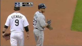 2009/06/16 Kapler's two-run triple