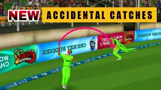 Accidental Catches 👉Top 5 Unexpected Catches in Wcc2 Cricket History