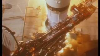 1969 Apollo 11 Saturn V launch in slow motion, Pad Camera 1 (looking down from top)