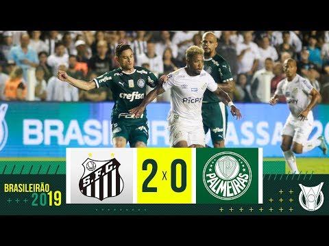 SANTOS 2 X 0 PALMEIRAS - Melhores Momentos - Brasileirão 2019 (09/10/19)