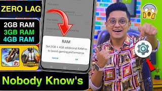 Add 4Gb Extra RAM in Any Phone Using 1 Trick | Boost Free Fire & PUBG Gaming Performance Tutorial screenshot 1
