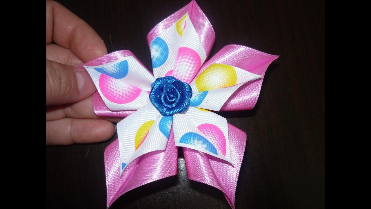 Como hacer flores de cinta o list n how to make ribbon - Para hacer monos ...