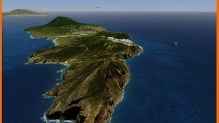 FSX Photo scenery of St.Eustatius, Statia in the Caribbean with the airport.