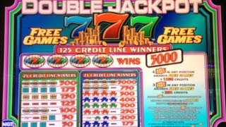 Double Jackpot 7 Slot Machine Free Spin Bonus + Retrigger *** Nice Win