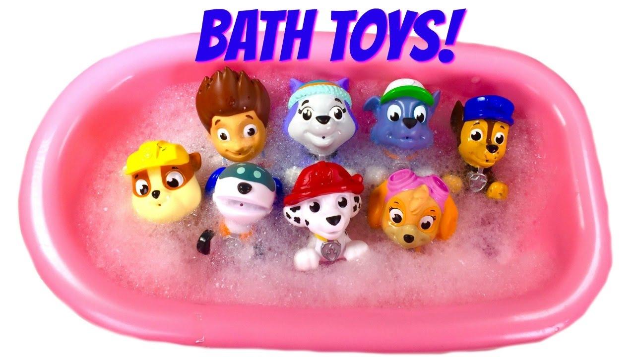 paw patrol bath toy video for children paw patrol wash a. Black Bedroom Furniture Sets. Home Design Ideas