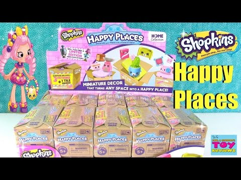 Shopkins Happy Places 2 Pack Surprise Delivery Blind Bags Toy Opening | PSToyReviews
