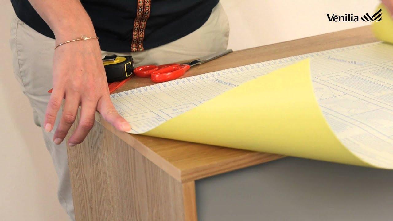 Poser du papier v nilia sur une commode youtube - Coller du papier sur un meuble ...