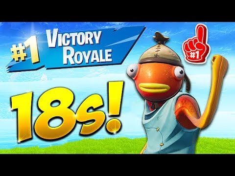 *NEW RECORD* 18 SECOND GAME WIN! - Fortnite Funny Fails And WTF Moments! #437