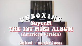 Gambar cover a super duper unboxing of superm ❝SuperM 1st mini album❞ (united, mark, lucas versions)