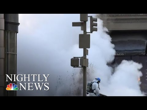 Steam Pipe Explodes In New York City  NBC Nightly News