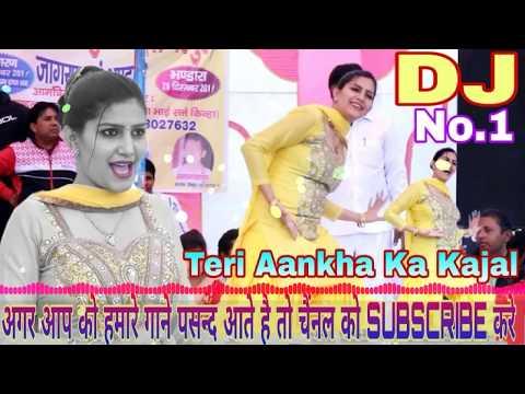 Teri Aankha Ka Kajal DJ Remix !! Sapna Chaudhary Haryanvi !!  Full Bass Hard Competition Song 2019