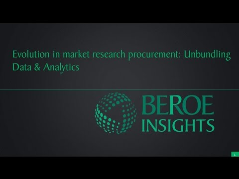 Evolution in market research procurement unbundling data and analytics