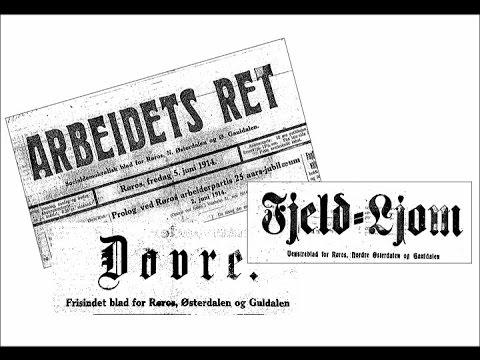 Avisene på Røros fra 1868 til nyere tid