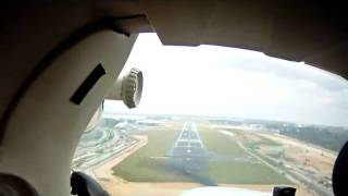 Cessna 172 circuits at Seletar WSSL