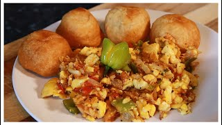 Ackee & Salt Fish WITH Fried Dumplings    Jamaican Perfect Breakfast Recipe By Chef Ricardo Cooking