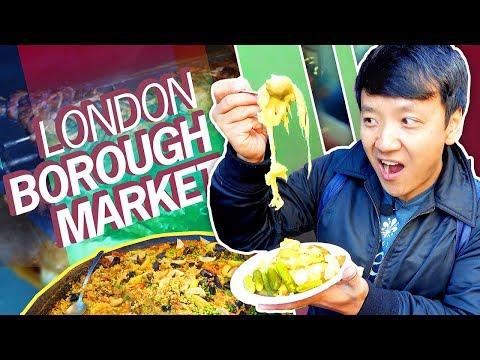 1,000 YEAR OLD FOOD MARKET! British Food Tour of Borough Market in LONDON