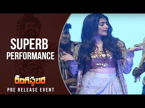 Actress Pooja Hegde Dance For Jigelu Rani...