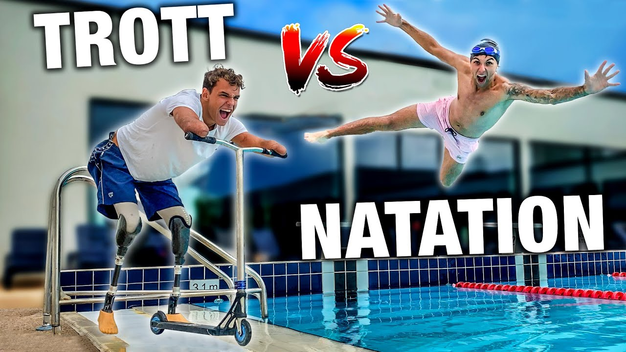 ON ÉCHANGE NOS SPORTS (TROTTINETTE VS NATATION) #6 Ft Théo Curin