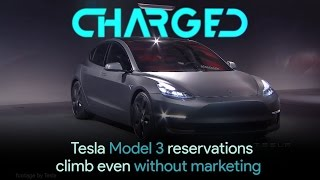 Tesla Model 3 reservation numbers continue to climb even with no marketing