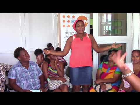 DOMINICA: Hurricane-affected survivors express themselves at launch of Women Friendly Spaces