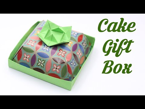 How to make Cake Gift Box, Easy Basic Simple Origami for Beginners Kids Paper Crafts DIY Ideas Decor