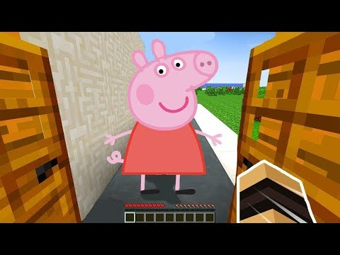 PEPPA PIG VISITE MA MAISON SECRÈTE SUR MINECRAFT !