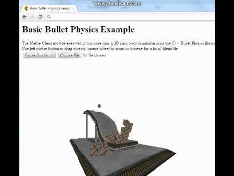 Bullet Native Client test